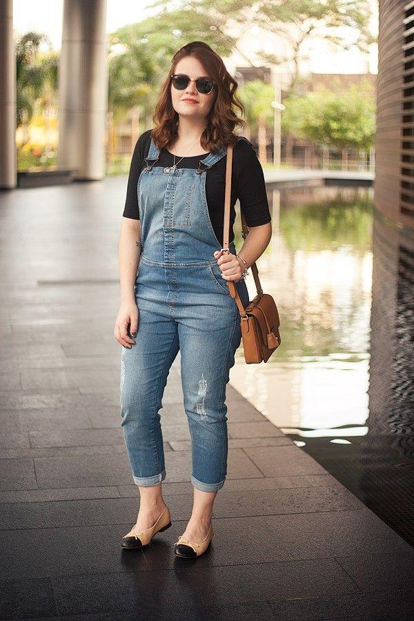 Look da Ka: macacão jeans e óculos de sol