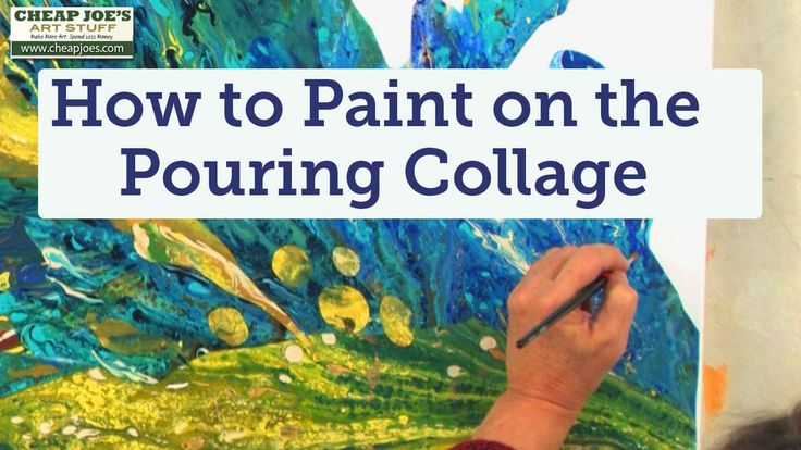 How to Paint on the Pouring Collage with Debbie Arnold