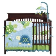 baby boy nursery bedding-sea turtles