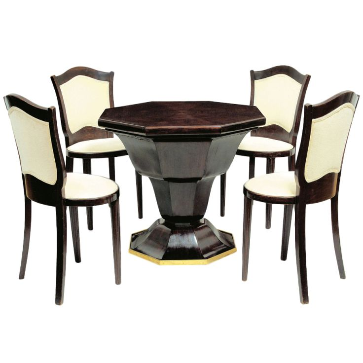 Octagonal table and four chairs Dining room sets Room  : 9856113703dc2003172e4dc06a8e57de modern dining room sets deco furniture from www.pinterest.com size 736 x 736 jpeg 47kB