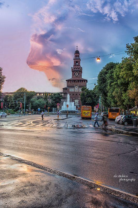 #Milan, #Milano, #Sforzesco, #Europe, #italy