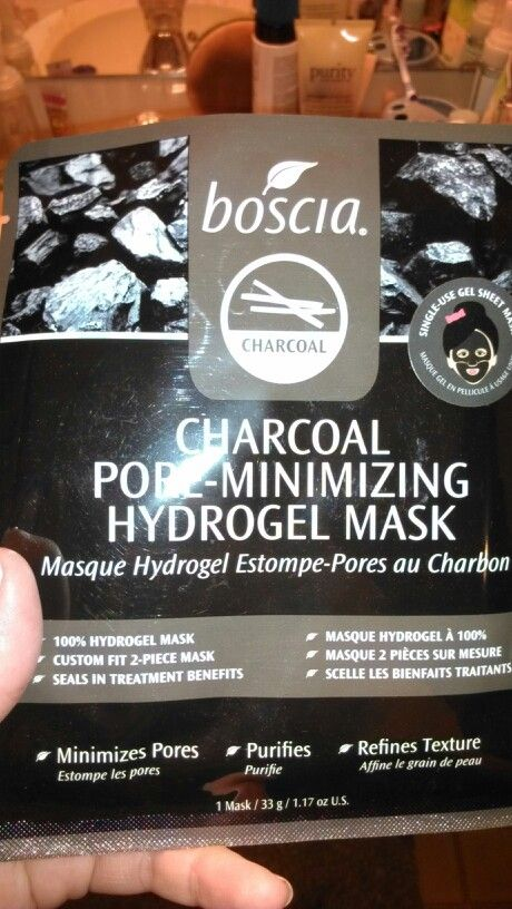 boscia charcoal gel sheet mask, bn $5 must be added to an order