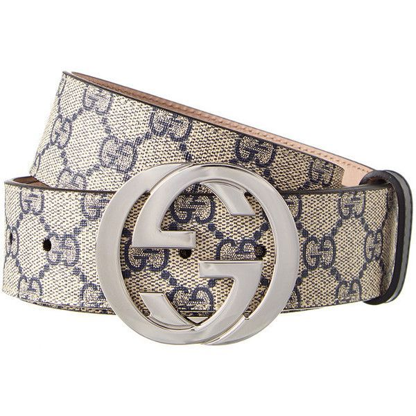 d5c3d7c3 Gucci Gg Supreme Canvas G Buckle Belt ($330) ❤ liked on Polyvore ...