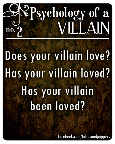 Psychology of a Villain - No. 2 #writersblock Click the photo to follow the story of two sisters who are also writing partners