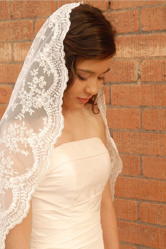 Hey, I found this really awesome Etsy listing at http://www.etsy.com/listing/151200222/lace-mantilla-wedding-veil-romantic-veil