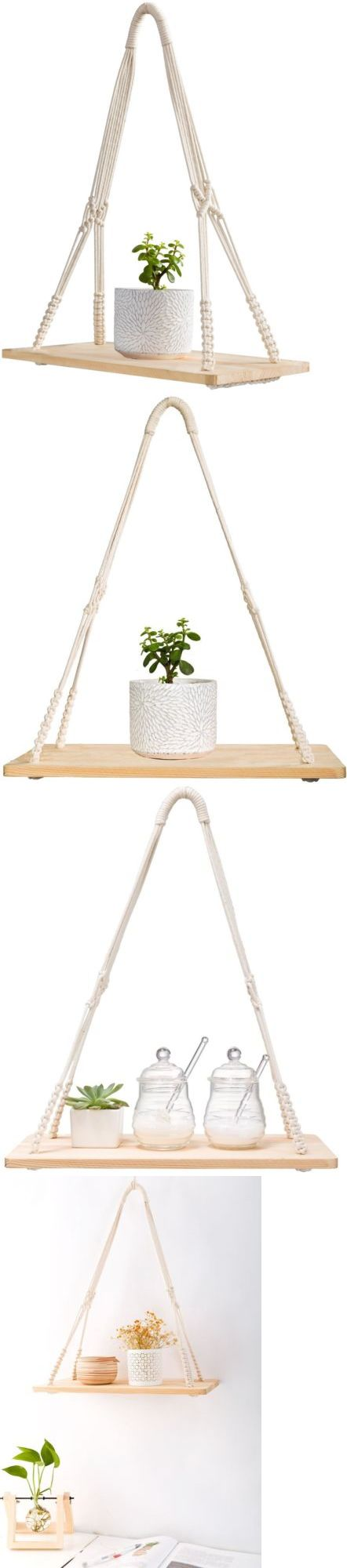 Plant Hooks and Hangers 134671: Mkono Macrame Hanging Shelf Wall Decor 20  Inches -> - Best 25+ Plant Hooks Ideas On Pinterest Curtains For Bedroom