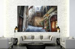 beautiful narrow street in Florence, Italy №1447