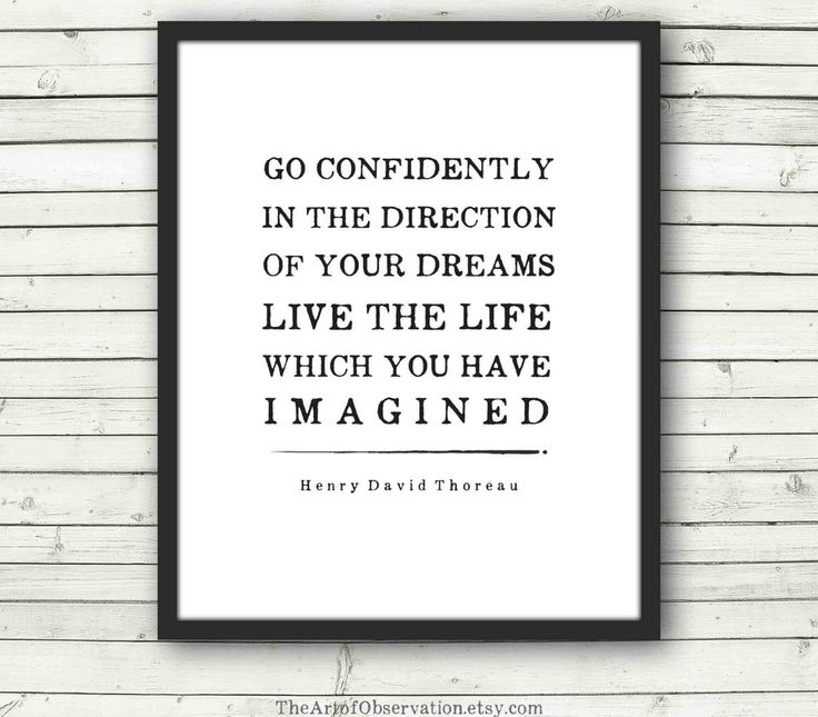 Inspirational art prints for grads: Henry David Thoreau Quote Print from The Art of Observation