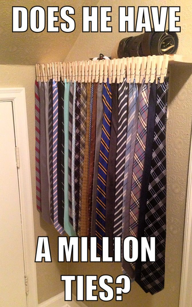 The clothes pin hangers, Ways to organize ties                                                                                                                                                                                 More