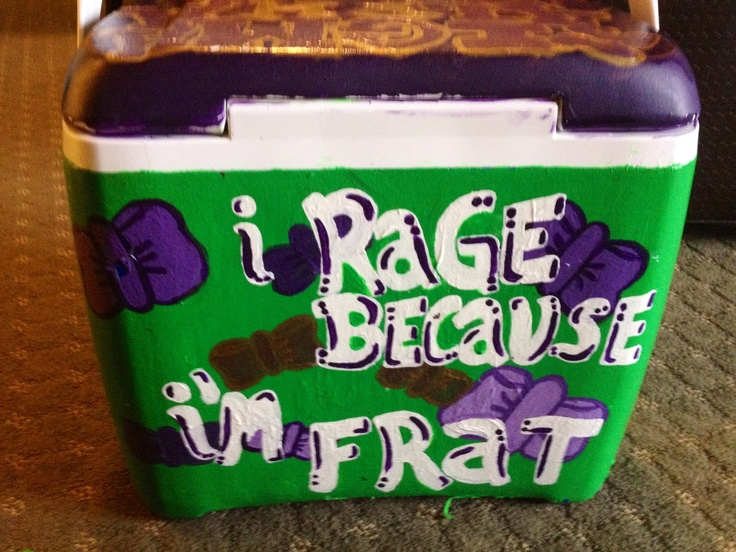 one of my greatest accomplishments: decorating a frat cooler