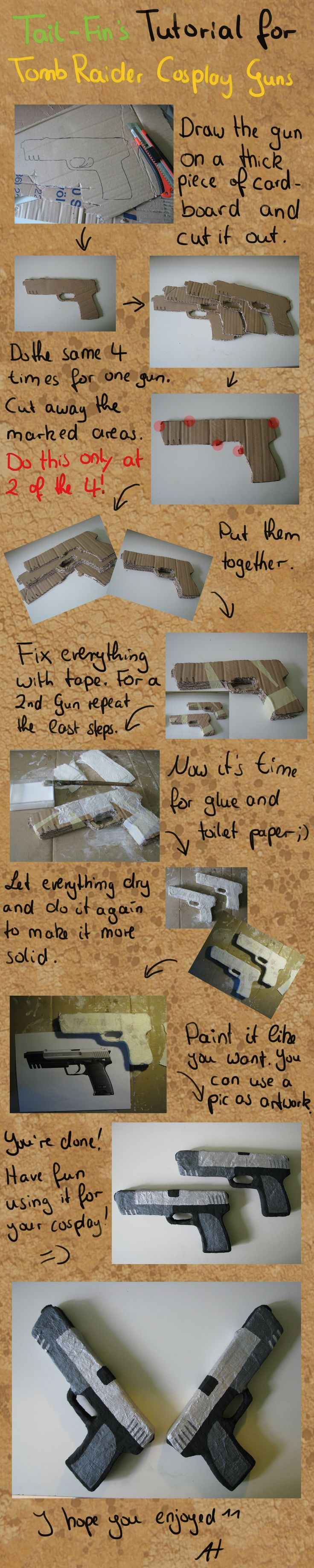 TR Cosplay Gun Tutorial by Tail-Fin.deviantart.com on @deviantART. Could use for other guns as well... Ah-ha!