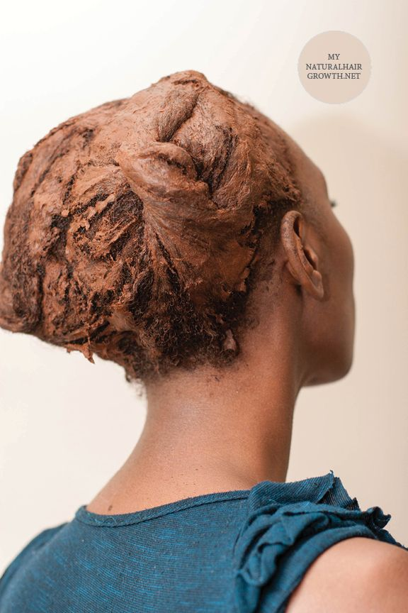 Red Raj Henna On 4c Natural Hair Ayurveda Conditioning