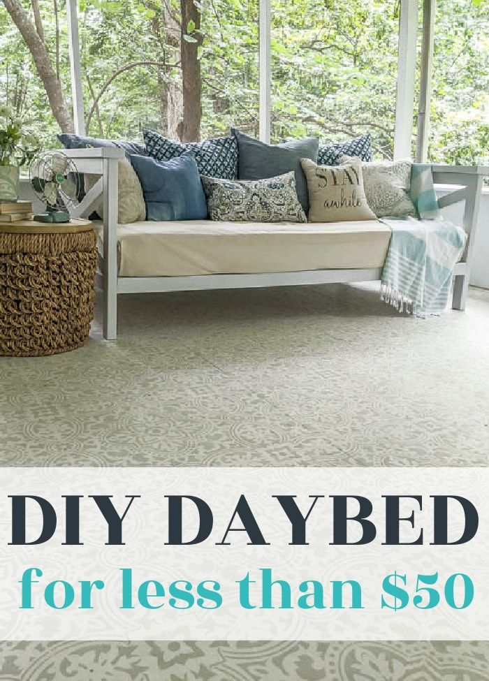 How To Build A Diy Daybed For 50 Lovely Etc In 2020 Diy Daybed Diy Furniture Plans Contemporary Home Decor