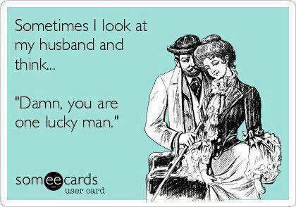 Yep, he's lucky!
