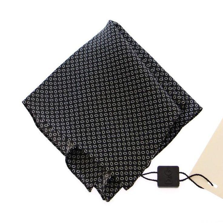 Dolce & Gabbana Black Silk Handkerchief
