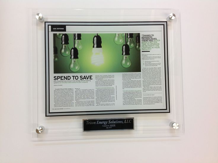 cast acrylic plaques for newspaper and magazine articles