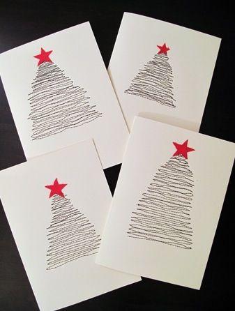 Simpele kerstkaarten #cards
