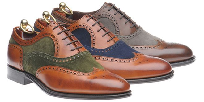 Two Tone Brogues Jay Austin style--- I'll take all but the gray...size 12 | my goodness! I like the brown and blue!