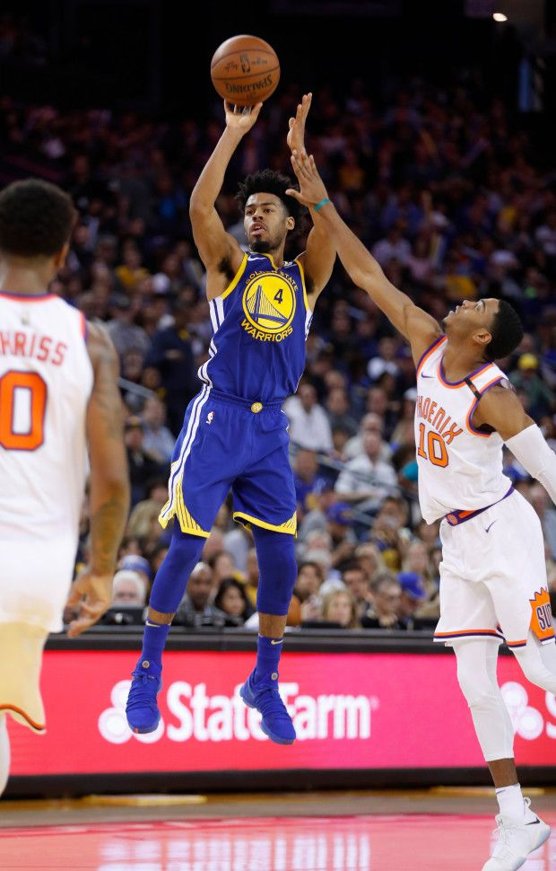 new product 207c4 d47a5 Golden State Warriors' Quinn Cook (4) takes a shot against ...