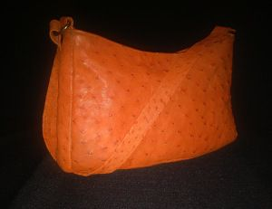 Ostrich Leather Handbag small.