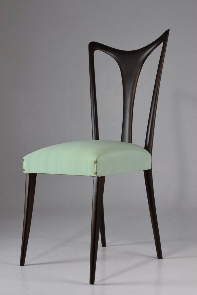 Set Of Six 20th Century Vintage Dining Chairs Designed By Guglielmo Ulrich  Circa 1940u0027s In Fully