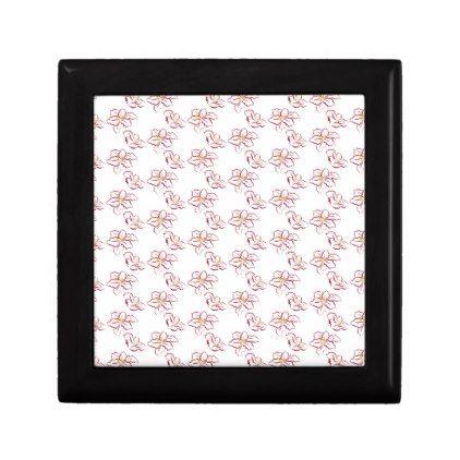 Poinsettia pattern - white gift box - pattern sample design template diy cyo customize