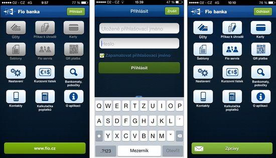 Představujeme vám mobilní aplikaci Fio banky - jediná umí potvrdit platbu pomocí otisku prstu - Finparáda