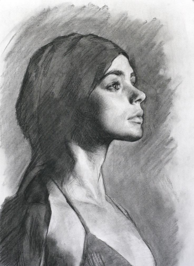 Рисунок углем портрет аристократическая