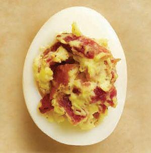 This is the perfect deviled egg. Give this Maple-Bacon Egg Filling a try the next time you want extra special deviled eggs.