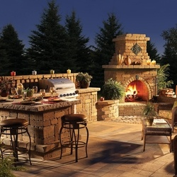 Outdoor Fireplace, Grill Station And More