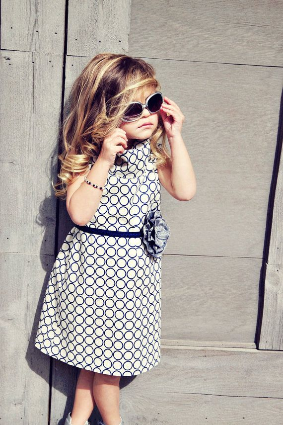 Modern Metro Circle Dress by simplicitycouture on Etsy
