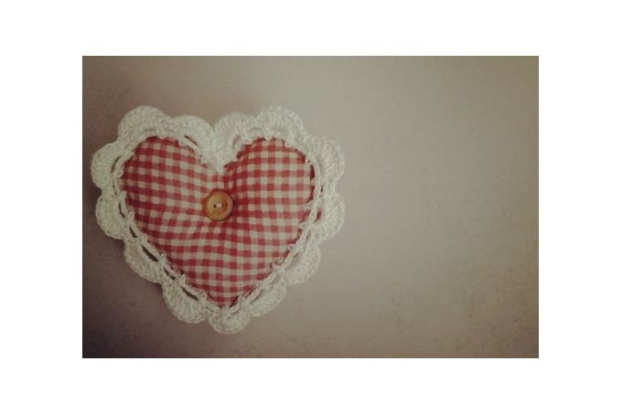 {Home} Fabric hearts with crochet borders by Lovilee on hellopretty.co.za