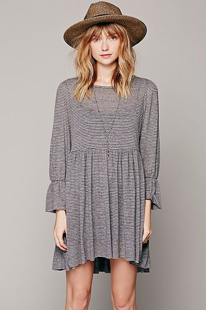 Oh, Babydoll! 9 Throwback Frocks To Wear This Fall #refinery29 http://www.refinery29.com/babydoll-dresses#slide6
