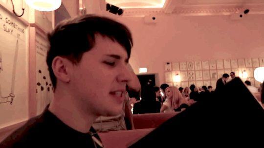 Dan getting attack by a menu