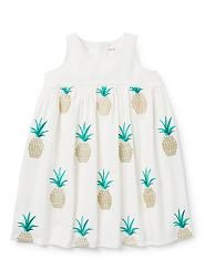 Pineapple Embroidered Dress