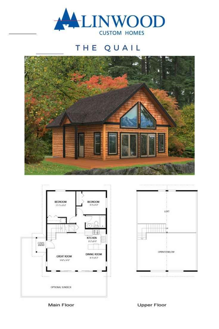 House Plans Quail Linwood Custom Homes Smallhomes Tiny House Cabin Linwood Homes Small Cabin Plans