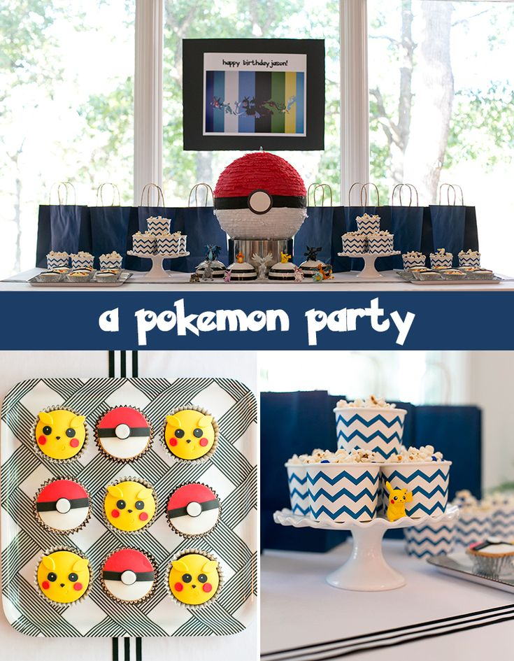 A Pokemon Birthday Party: Awesome Ideas for Pokemon-themed Games including Psychic Challenge, Squirtle Balloon Toss, Pokeball Hunt, and Character Portrait Studio.