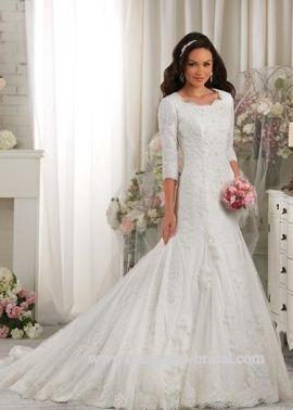522 best Modest Wedding Dress images on Pinterest | Wedding beauty ...