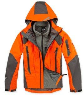 Mens North Face Summit Series Gore-Tex Xcr 3 in 1 Jackets Orange : Discount North Face Jackets For Men On Clearance.