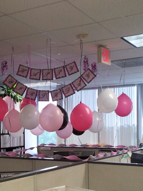 Best birthday cubicle decorations images on pinterest