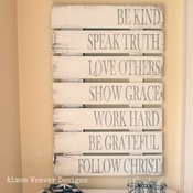 Family Rules Barn Door Sign
