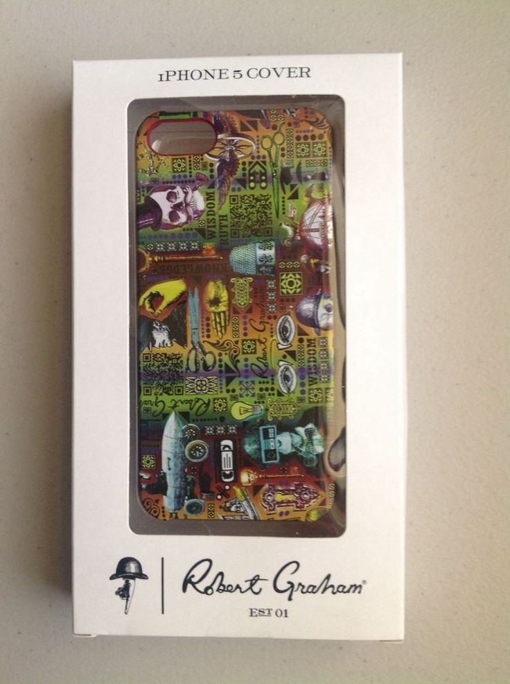 NEW ROBERT GRAHAM IPHONE 5/5S APPLE HARD PLASTIC CELL PHONE CASE NIB ACCESSORIES #RobertGraham