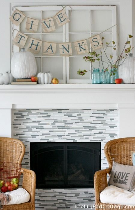 Thanksgiving Mantel Decor - The Lilypad Cottage