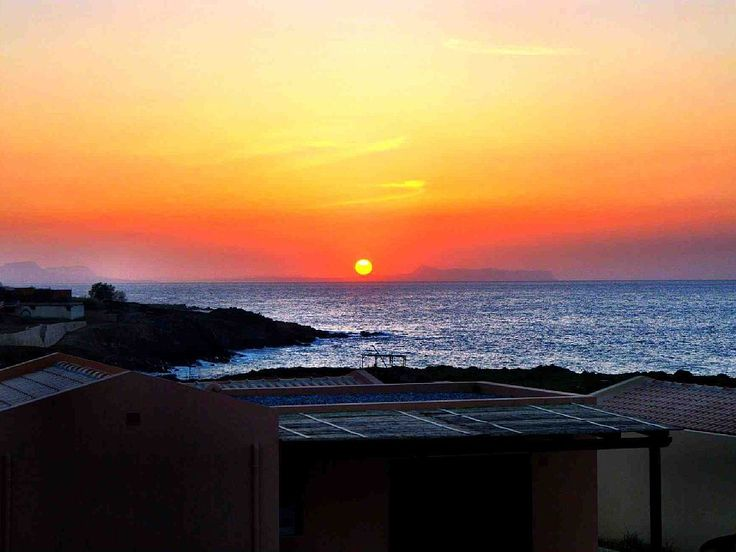 Panormos apartment rental - Great Sunset View from the balcony!