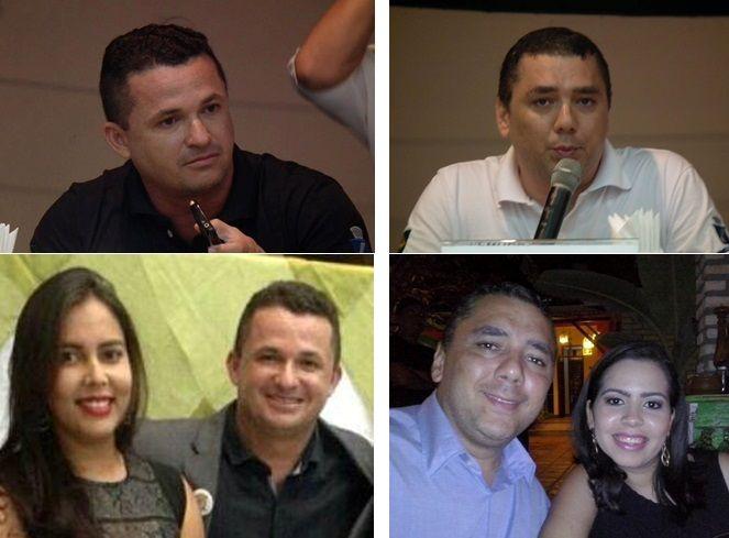 Leonardo e Lílian; Evânio e Mariana: