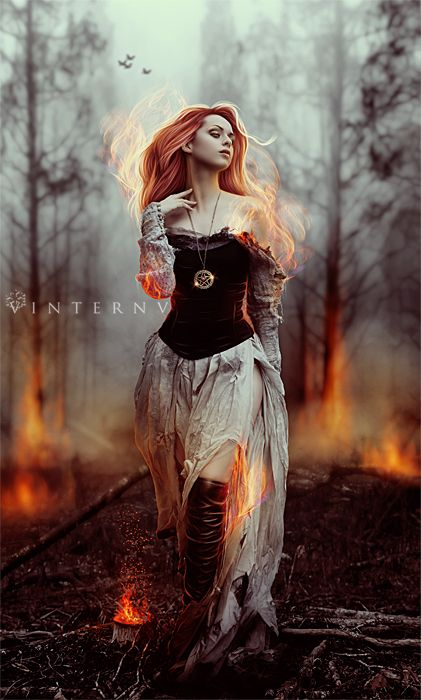 Credits: Model: =faestock BG:*Jin-KStock Flames over model's body: ~shd-stock Pendant, bg fire and birds: my own resources * Painted elements -- I had to use a small version of my watermark, I'll r...