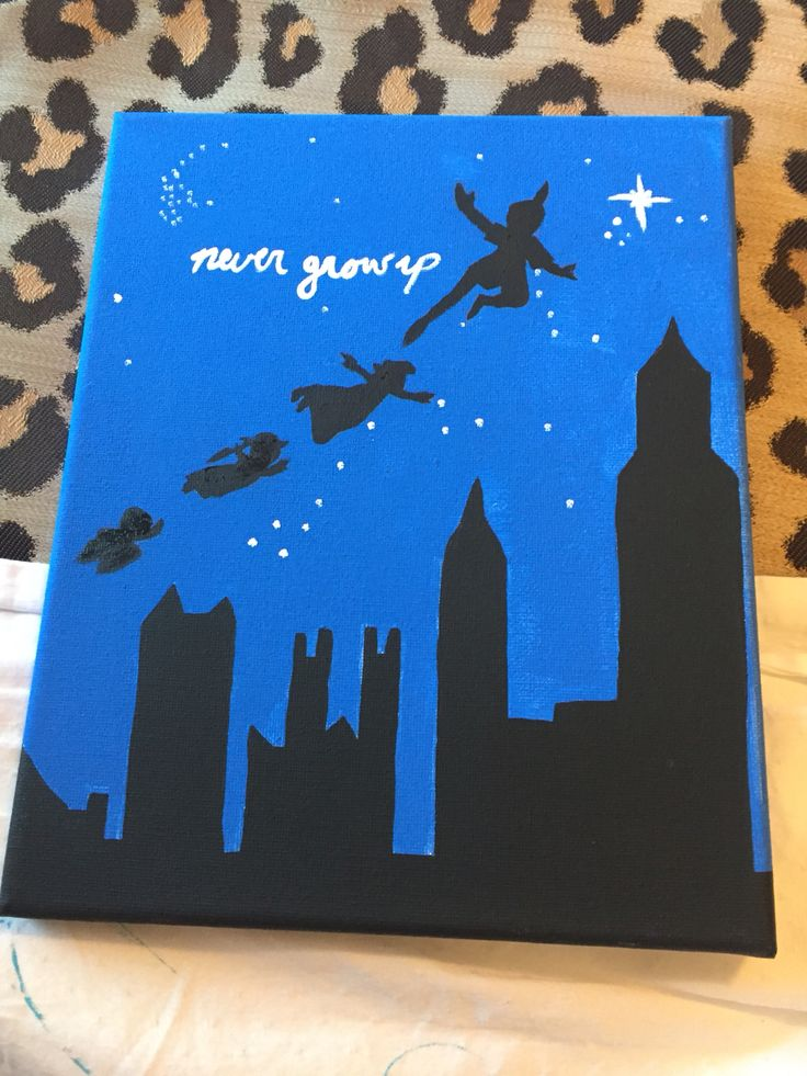 Peter Pan Never Grow Up Acrylic Painting On Canvas