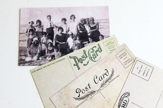 Vintage inspired Postcard Set  Portraits and by archivioGotico, €6.00