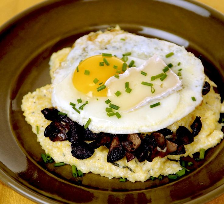 rack with porcini mushrooms powder crusted served with saffron polenta ...