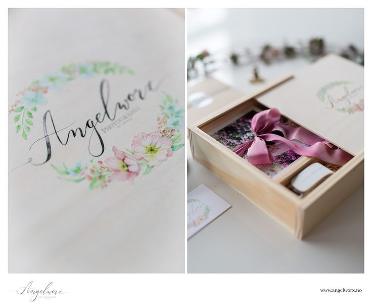 Packaging for Angelworx Photography goodies with logo by Kateryna Savchenko